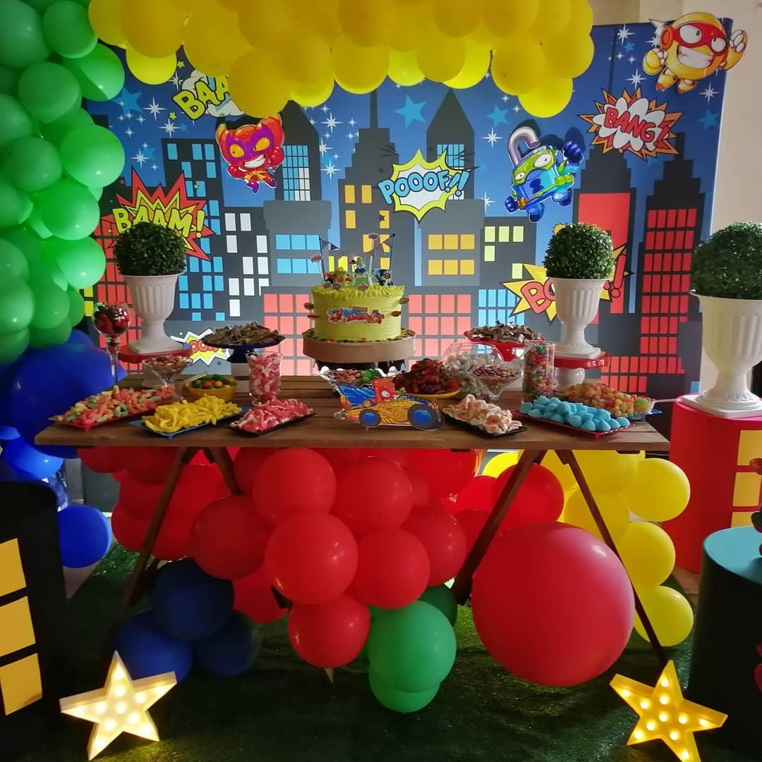 decoracion para fiesta de super zings