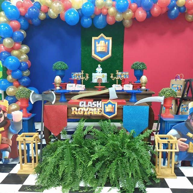 fiesta tematica de clash royale