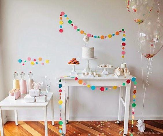 fiesta tematica de confeti