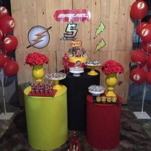 ideas para decorar una fiesta de flash