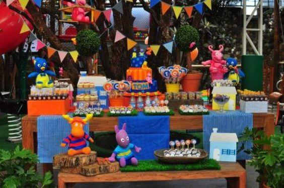 ideas para decorar una fiesta de un cumpleaños de backyardigans