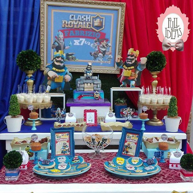 ideas para decorar una fiesta de un cumpleaños de clash royale