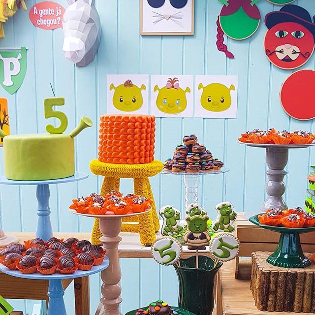 ideas para decorar una fiesta de un cumpleaños de shrek