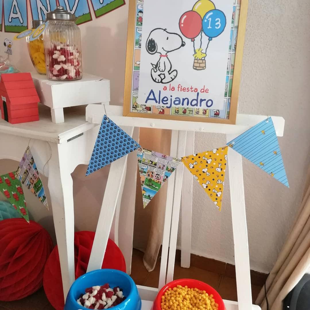 ideas para decorar una fiesta de un cumpleaños de snoopy