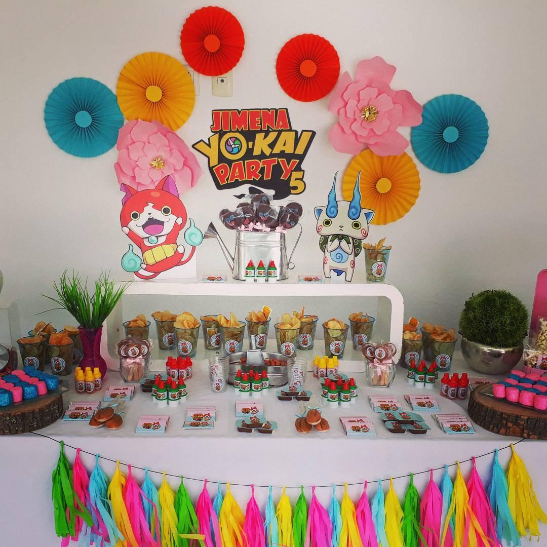 ideas para decorar una fiesta de un cumpleaños de yo kai watch