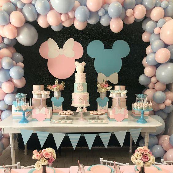 ideas para decorar una fiesta infantil de gemelos