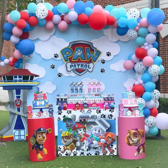 ideas para una fiesta infantil de gemelos