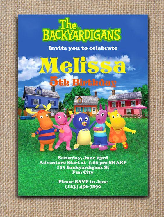 invitaciones para un cumpleanos de backyardigans