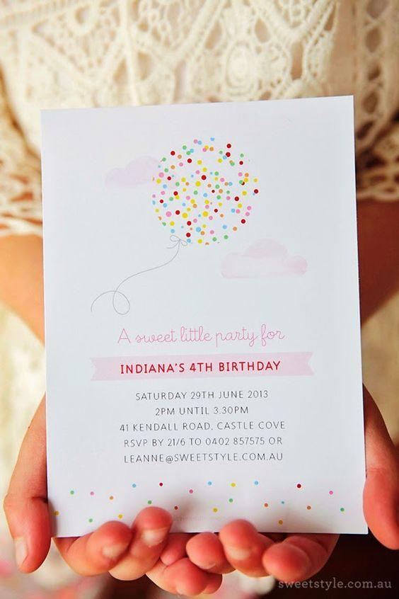 invitaciones para un cumpleaños de confeti