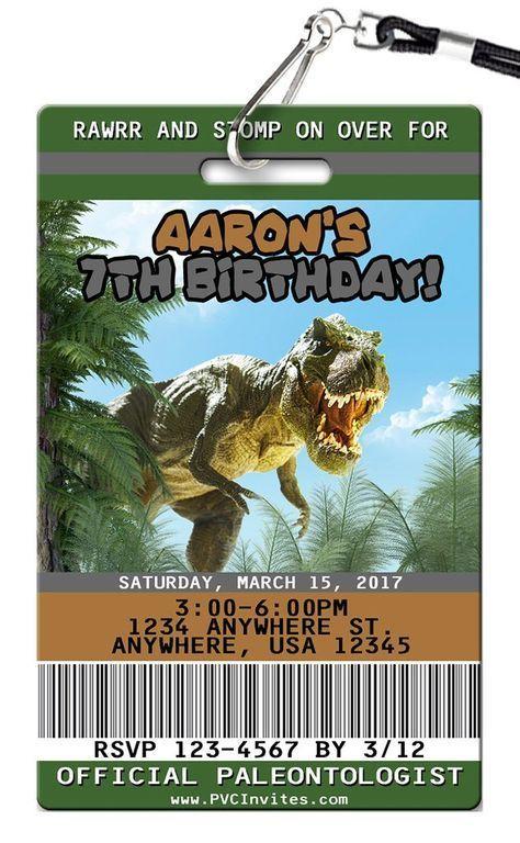 invitaciones para un cumpleaños de jurassic world dinosaurios