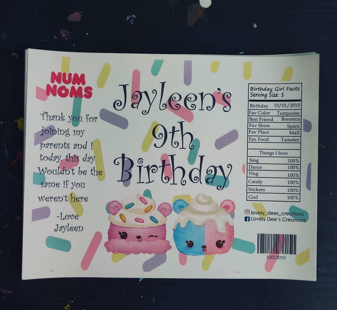 invitaciones para un cumpleaños de num noms