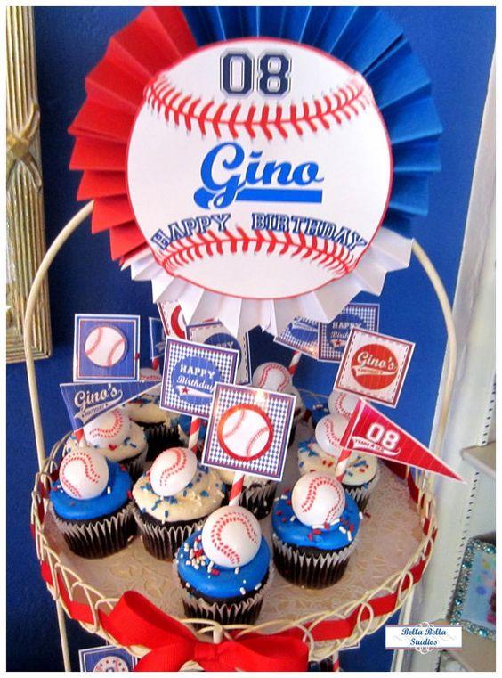 mesa de dulces para fiesta de beisbol