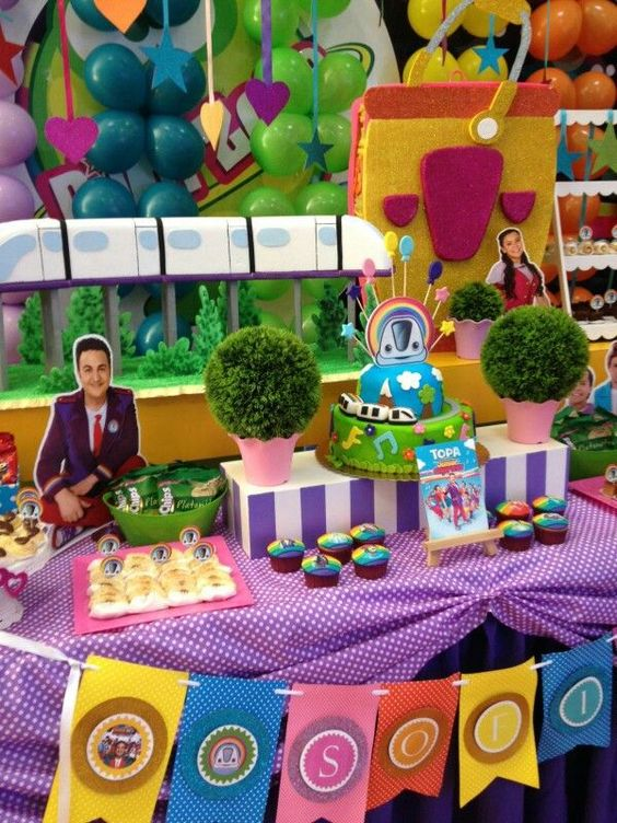 mesa de dulces para fiesta de junior express