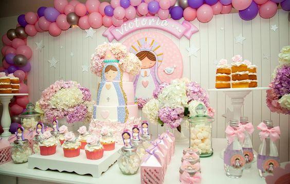 mesa de dulces para fiesta de la virgen de guadalupe