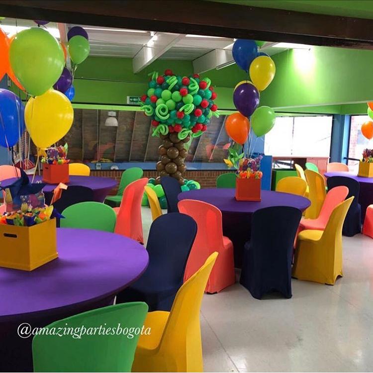 centros de mesa para un cumpleaños de backyardigans