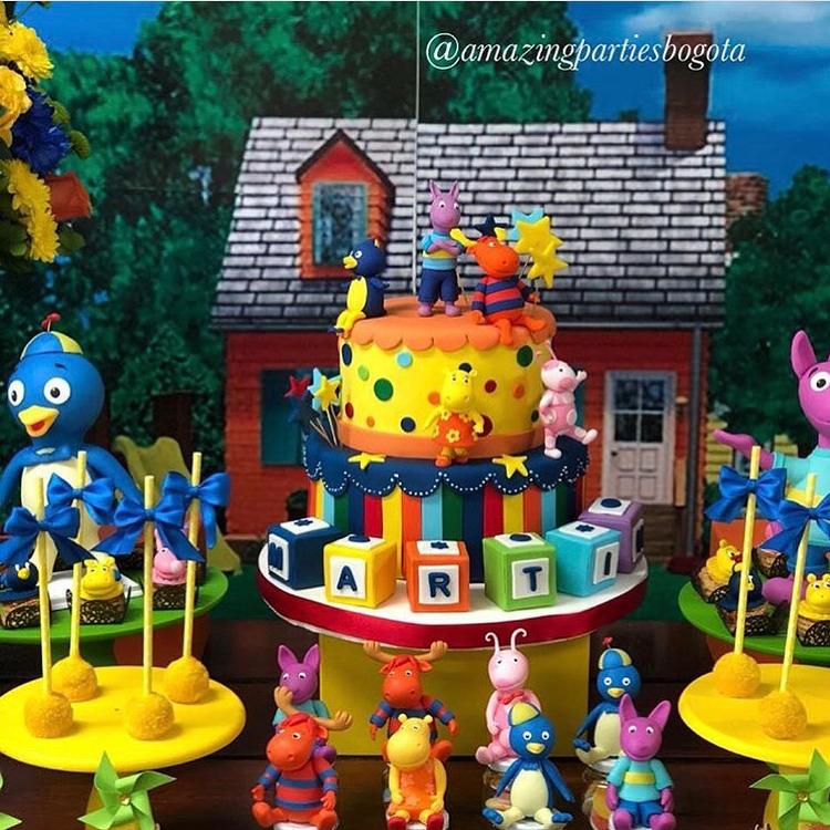pastel para una fiesta de backyardigans