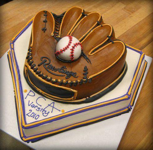 pastel para una fiesta de beisbol