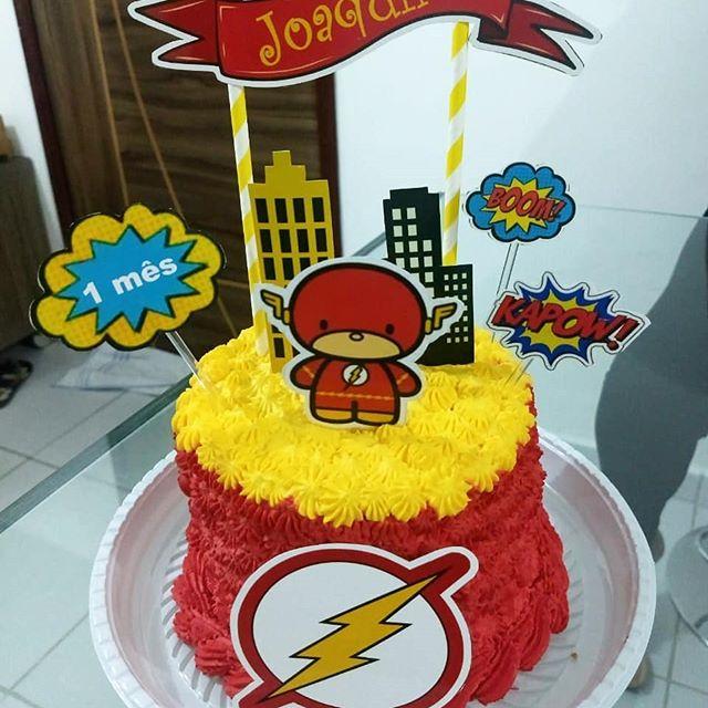pastel para una fiesta de flash