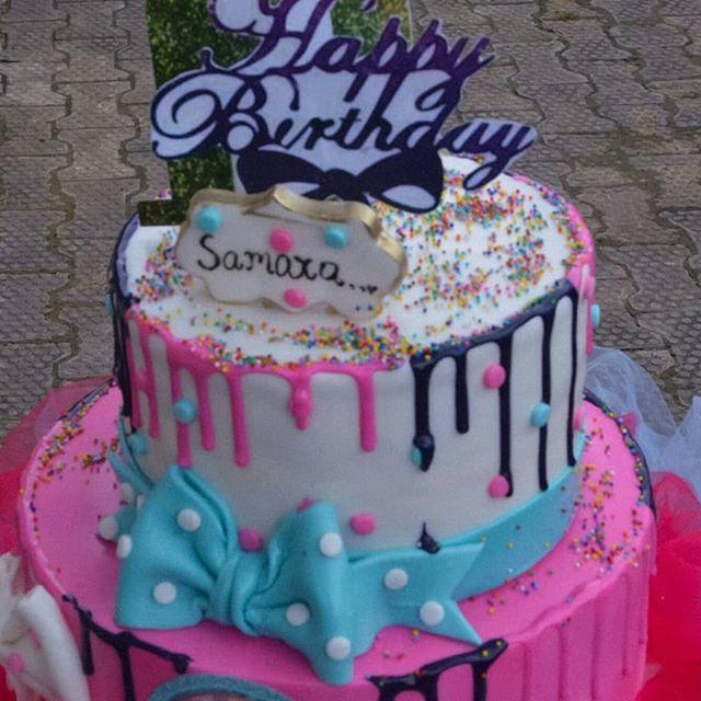 pastel para una fiesta de jojo siwa