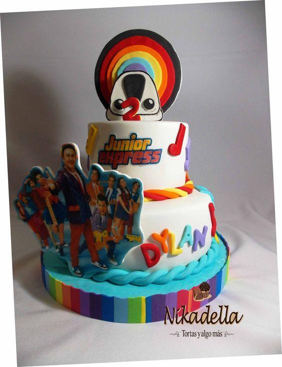 pastel para una fiesta de junior express