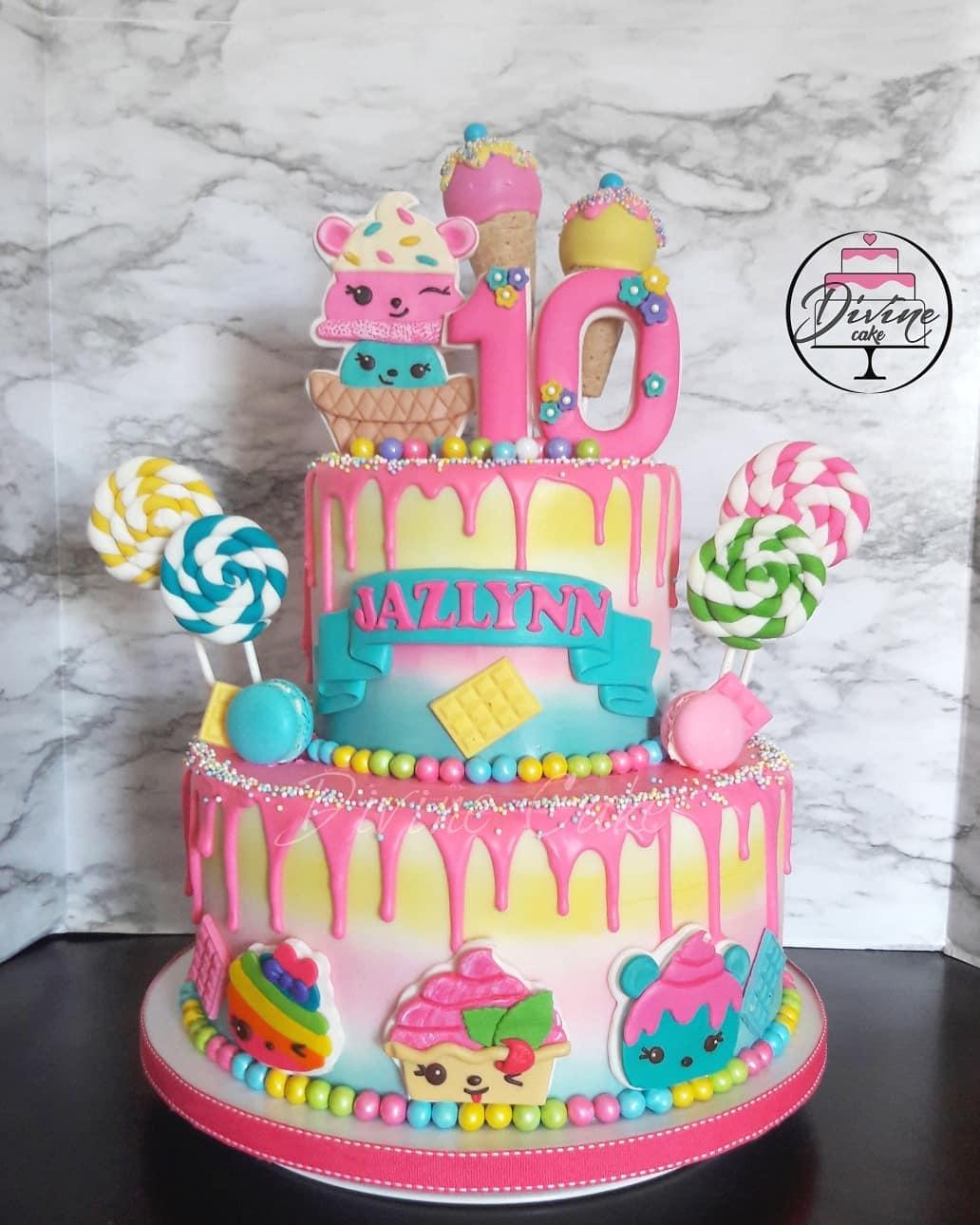 pastel para una fiesta de num noms para niña