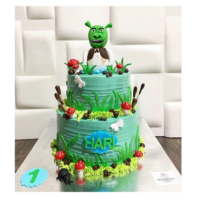 pastel para una fiesta de shrek