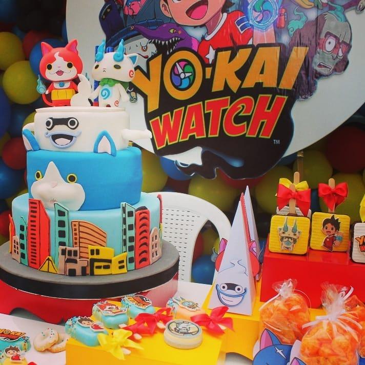pastel para una fiesta de yo kai watch