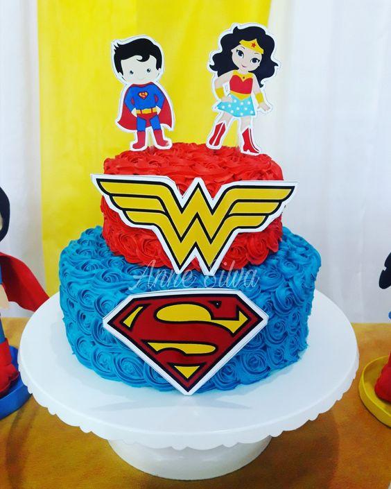 pastel para una fiesta infantil de gemelos