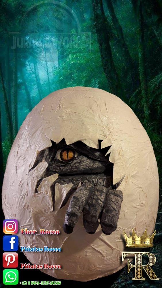 piñata para un cumpleaños de jurassic world dinosaurios