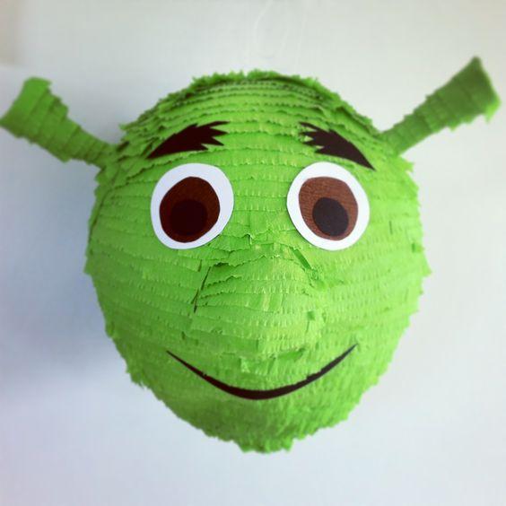 piñata para un cumpleaños de shrek