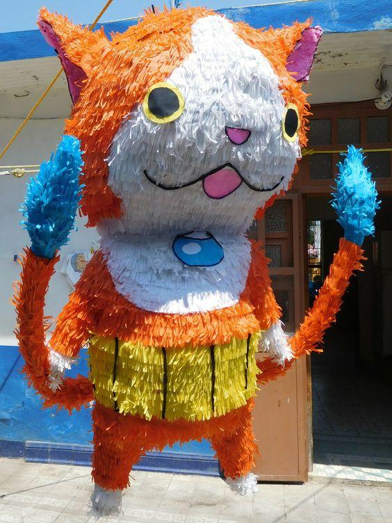 piñata para un cumpleaños de yo kai watch