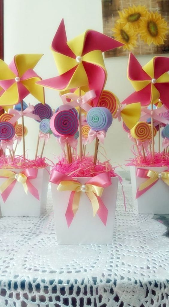 centros de mesa para fiesta infantil candy land