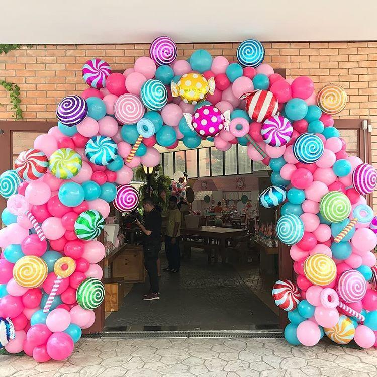 decoración de entradas para fiesta infantil candy land