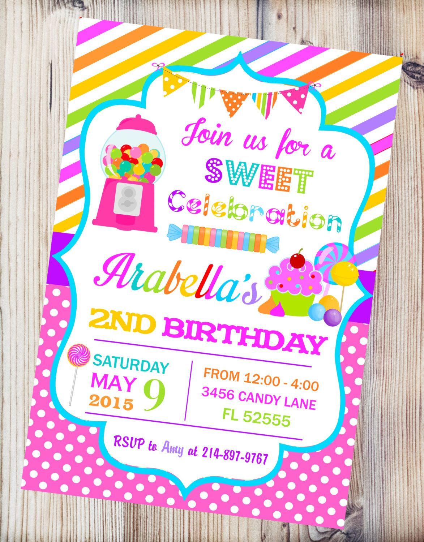 invitaciones para fiesta infantil candy land