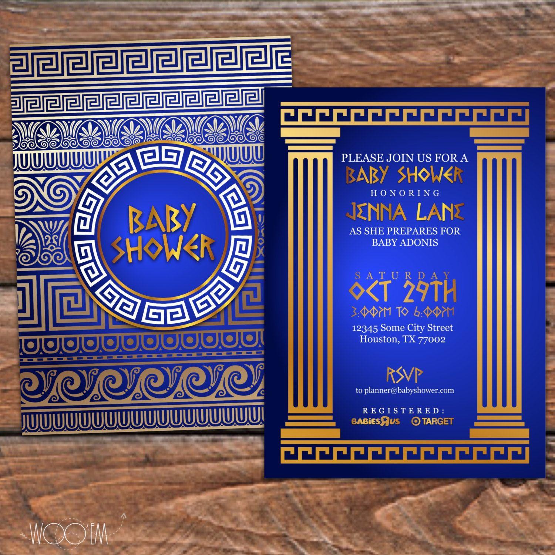 Invitaciones para una fiesta de la antigua Grecia