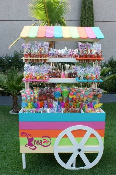 mesa de postres para fiesta infantil candy land