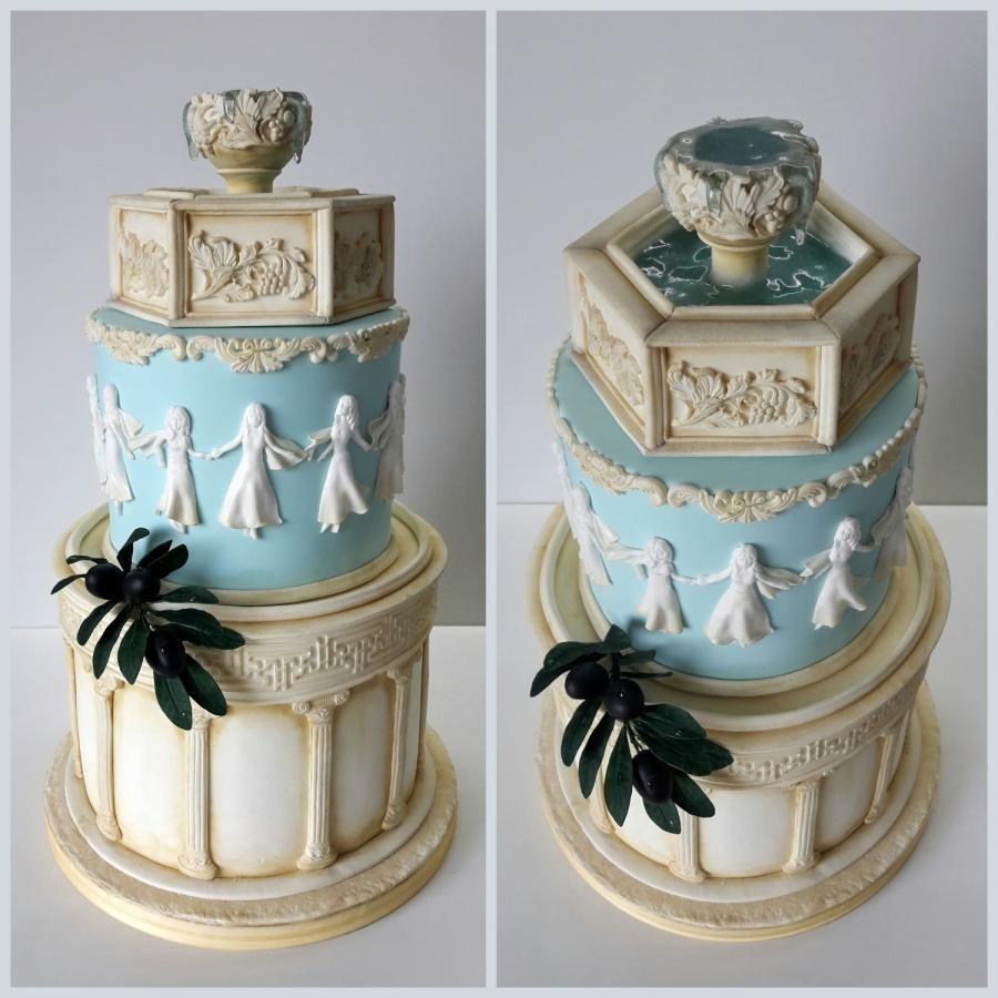 Pastel para una fiesta de la antigua Grecia