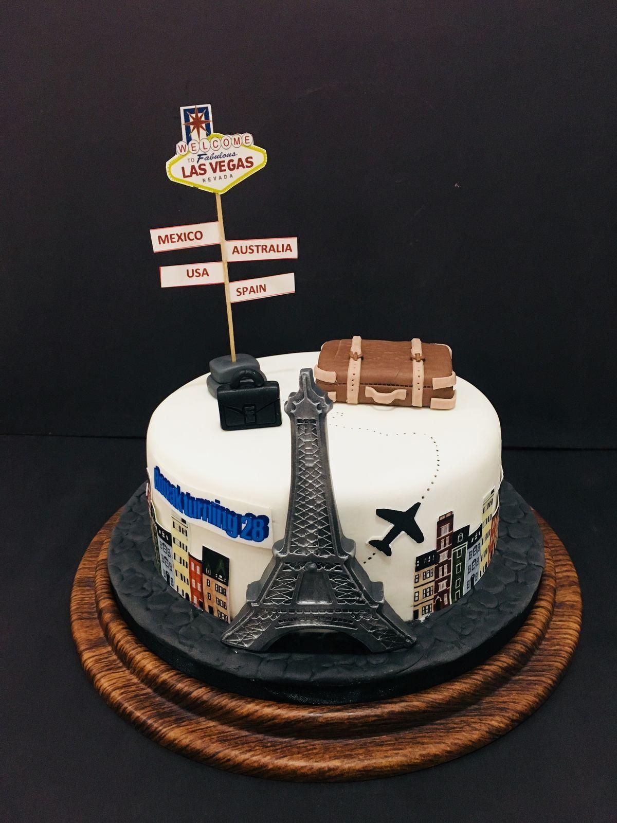 Pastel para una fiesta de viajes