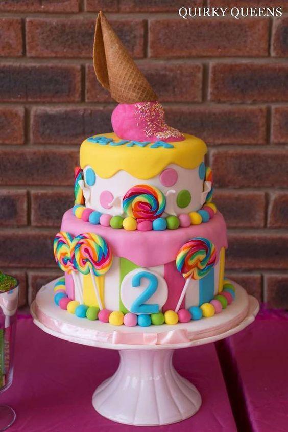 pasteles para fiesta infantil candy land