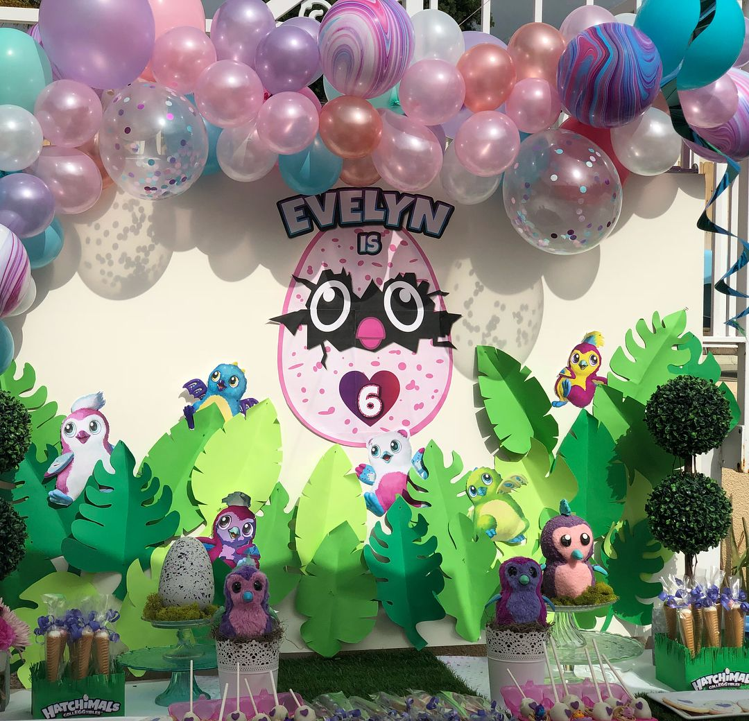 Backdrops para fiesta de hatchimals