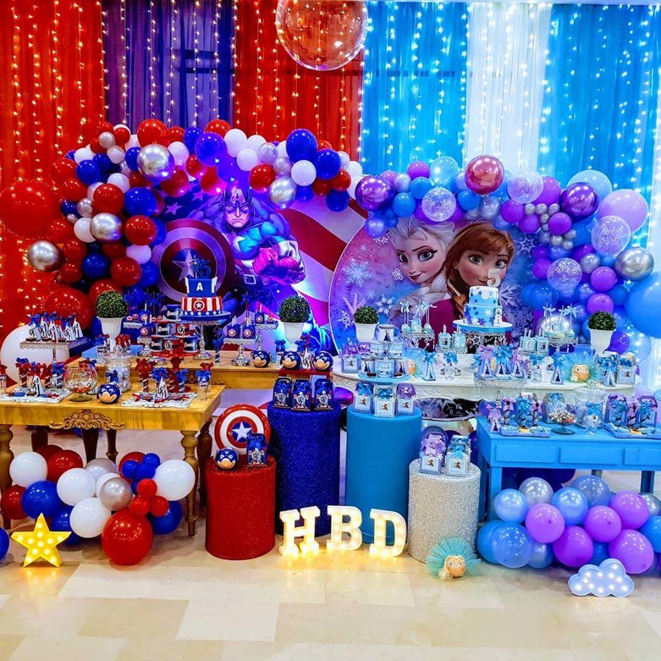 Ideas de fiestas de niño y niña de capitán américa y frozen