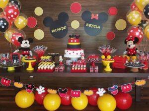 Ideas de fiestas de niño y niña de mickey mouse y minnie mouse