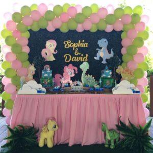 Ideas de fiestas de niño y niña de my little ponys y dinosaurios