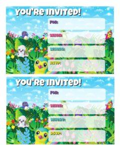 Invitaciones para un cumpleaños de hatchimals