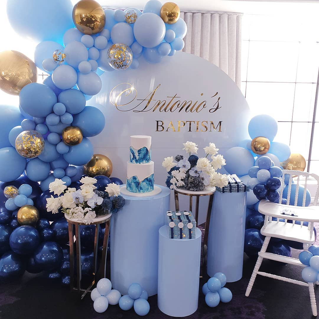 Decoración con globos para baby shower y bautizos