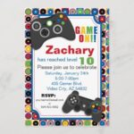 Invitaciones para fiesta gamer