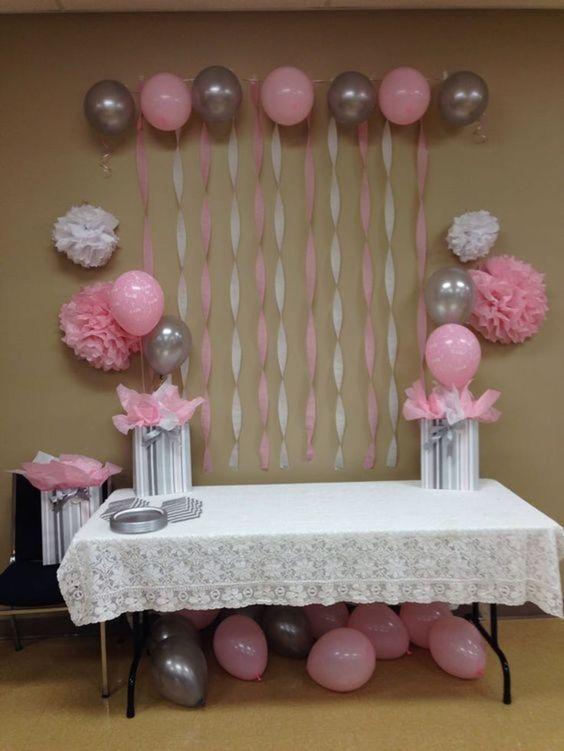 Opciones para decoración de baby shower sencillo