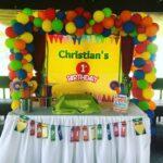 Mesas de postres para fiesta de crayones