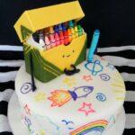 Diseños de pasteles para fiesta de crayones
