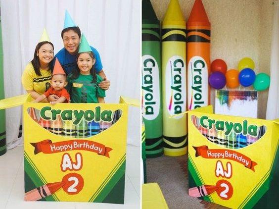 Ideas para organizar una fiesta de crayones